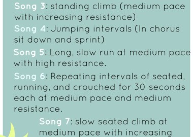 indoor spinning routine