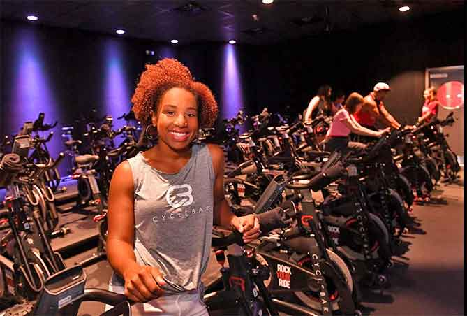 Simone Mack-Orr owner of Cyclebar Spartanburg