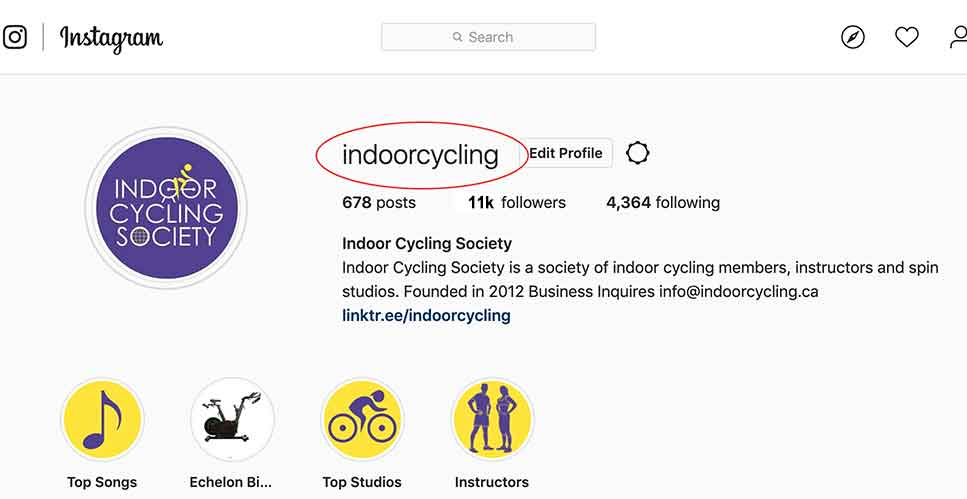 indoor cycling instagram