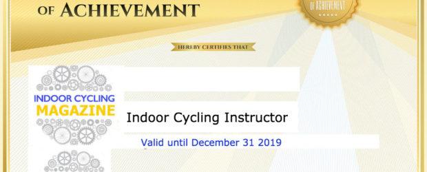 indoor Cycling Certificate
