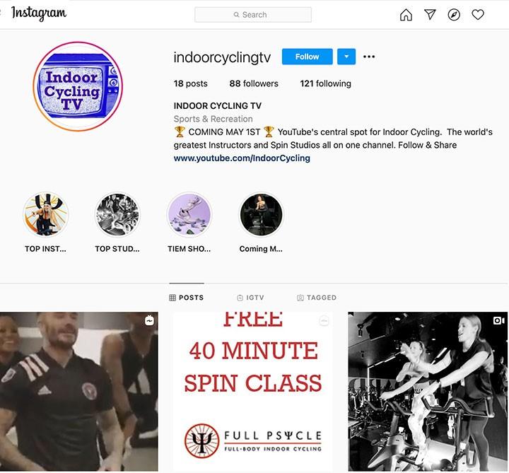 indoor cycling instagram